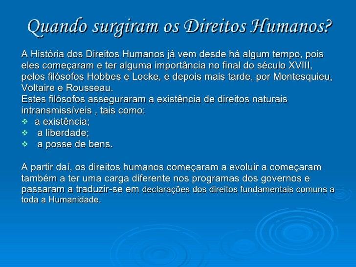 Artigos dos direitos humanos