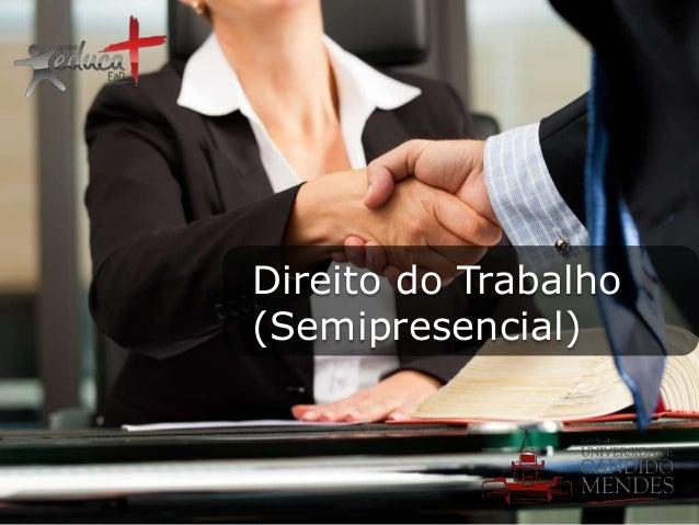 Direito do Trabalho (Semipresencial)