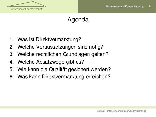 Direktvermarktung erfolgreich gestalten Slide 2