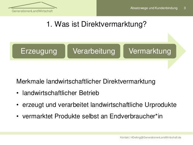 Direktvermarktung erfolgreich gestalten Slide 3