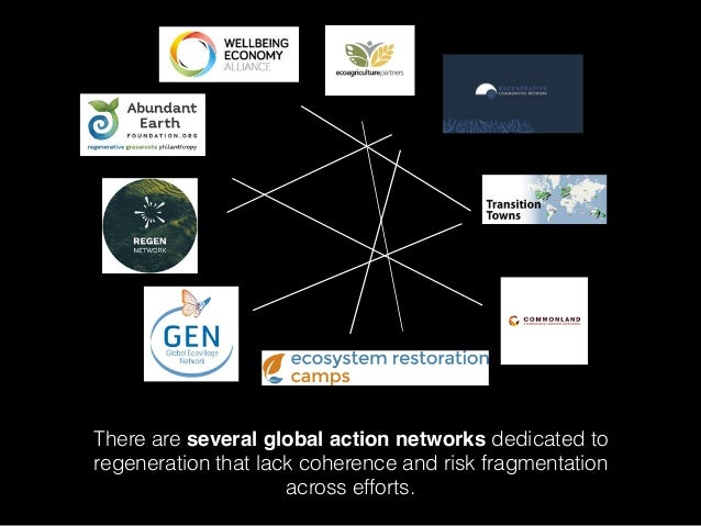 There are several global action networks dedicated to regeneration that lack coherence and risk fragmentation across effor...