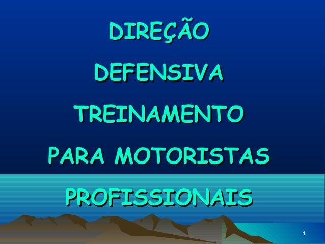 DIREÇÃO DEFENSIVA TREINAMENTO PARA MOTORISTAS PROFISSIONAIS 1