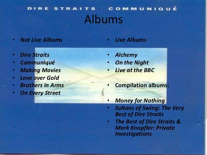 dire straits complete discography