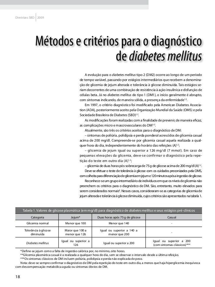 Diretrizes da sociedade brasileira de diabetes 2008 pdf