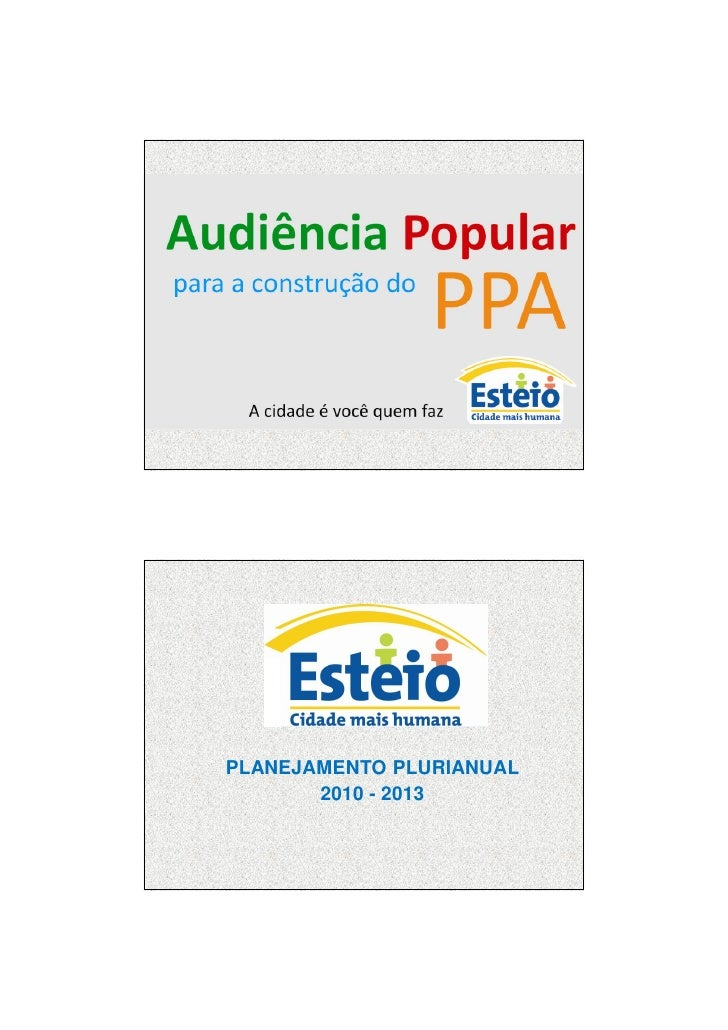 7/12/2009     PLANEJAMENTO PLURIANUAL        2010 - 2013                                      1