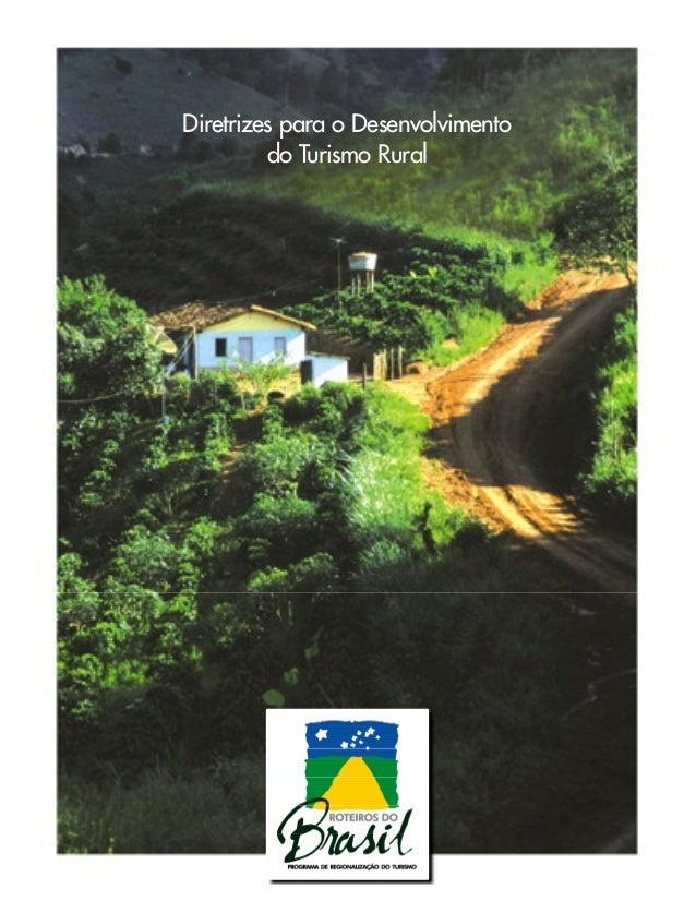 Diretrizes para o Desenvolvimento do Turismo Rural