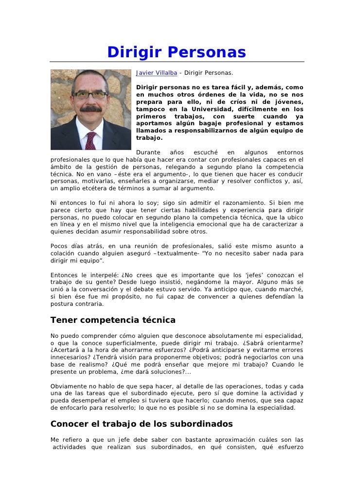 Dirigir Personas                            Javier Villalba - Dirigir Personas.                            Dirigir persona...