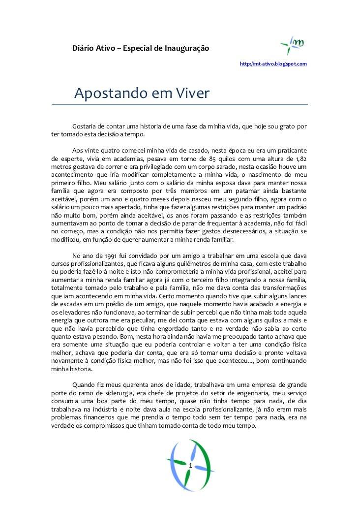 Diário Ativo – Especial de Inauguração                                                                   http://mt-ativo.b...