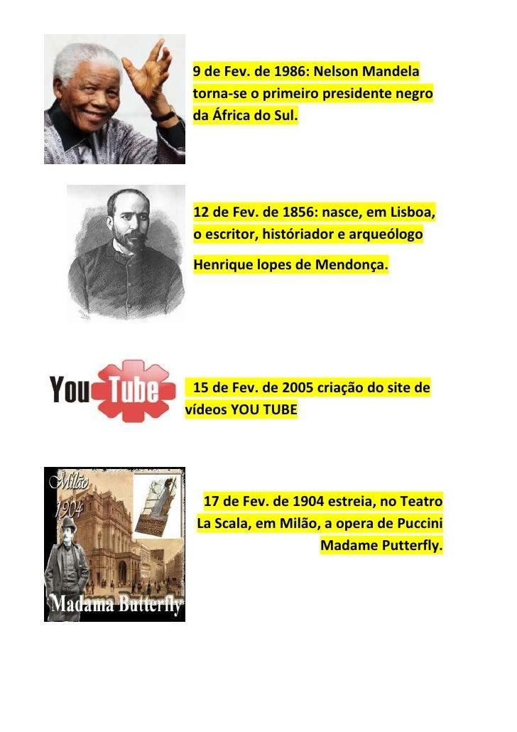 Diário de efemérides de Fevereiro Slide 3