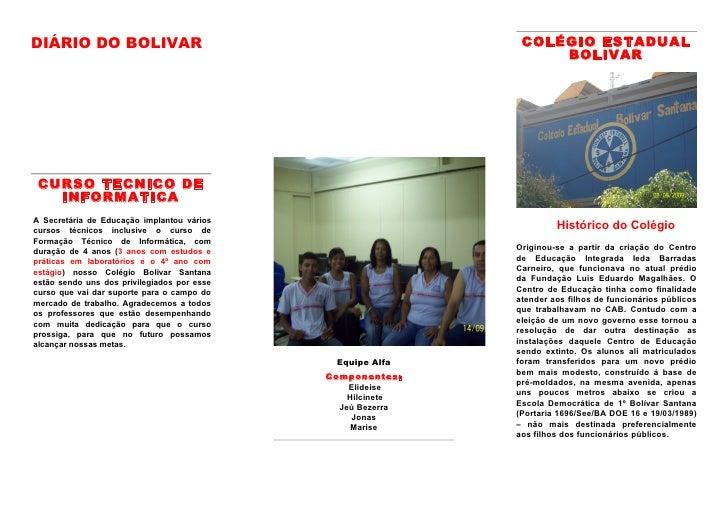DIÁRIO DO BOLIVAR                                             COLÉGIO ESTADUAL                                            ...