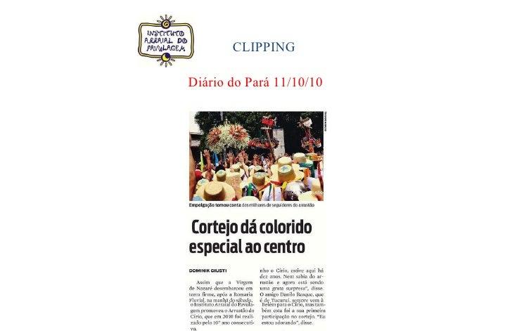 CLIPPING  Diário do Pará 11/10/10