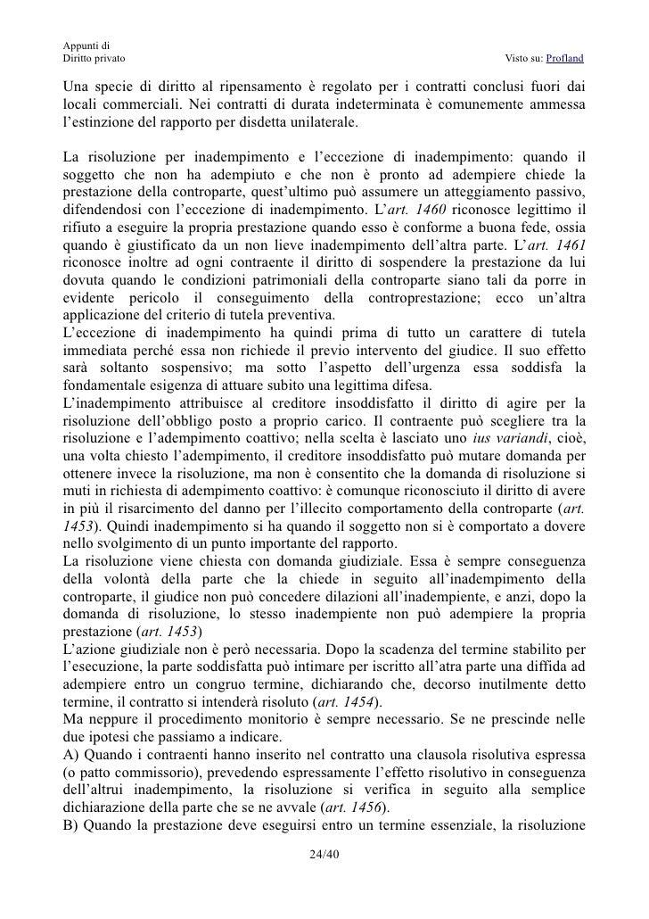 Page 242 appunti di diritto privato soggiorni moderni - Servitu di passaggio ...