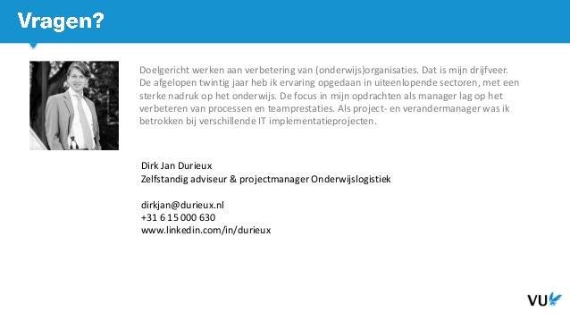 Aanbesteding van een nieuwe rooster applicatie - Dirk jan Durieux - HOlink 2019
