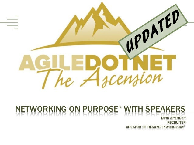 NETWORKING ON PURPOSE WITH SPEAKERS                     ©                                                     .           ...