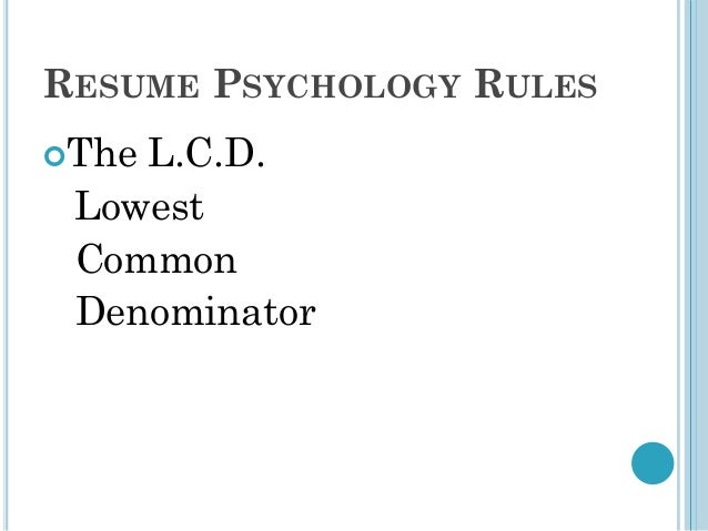 resume for psychology