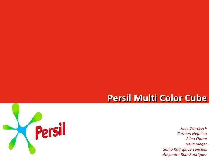 Persil Multi Color Cube Julia Donsbach Carmen Neghina Alina Oprea Hella Rieger Sonia Rodriguez-Sanchez Alejandra Ruiz-Rodr...