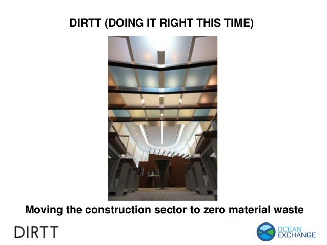 DIRTT (DOING IT RIGHT THIS TIME) Moving the construction sector to zero material waste