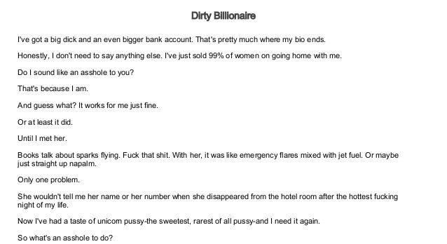 Dirty Billionaire Free Audiobooks For Iphone