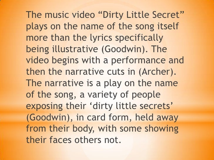 Dirty Little Secret Analysis What she doesn't know 8. slideshare