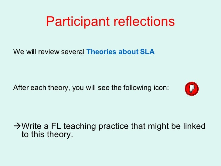 theories of motivation for second language acquisition sla Motivation, anxiety and emotion in second language acquisition  motivation, anxiety and emotion in second  role in second language acquisition (sla).