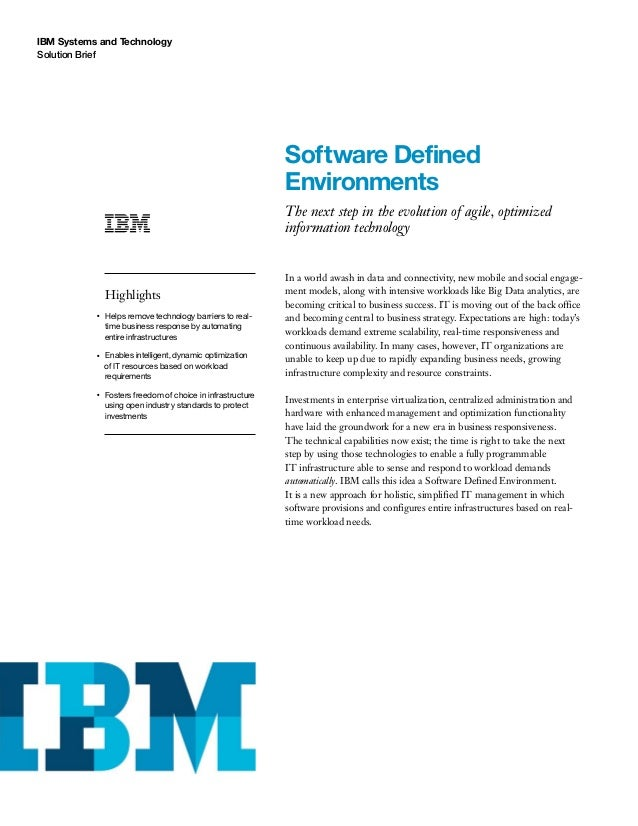 Software Defined Environments