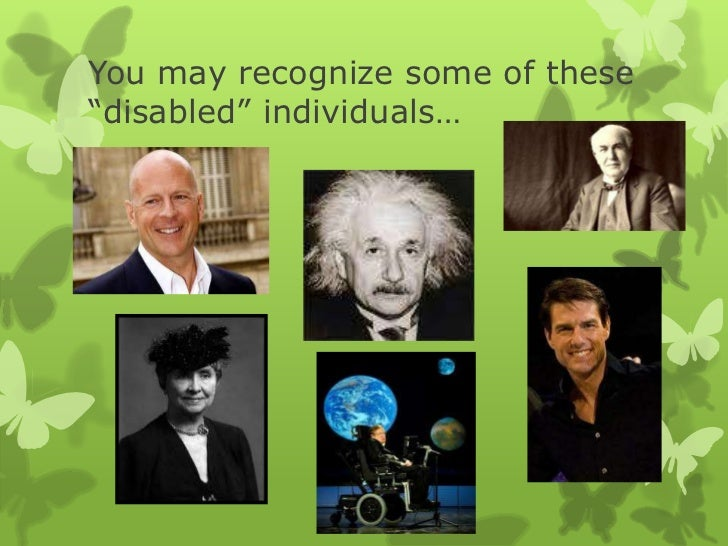 Disabled or different