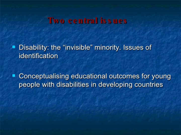 conceptualising disability Disabilities (crpd) in situations of armed conflict  medical model of  conceptualising disability is outdated in relation to the social model that.