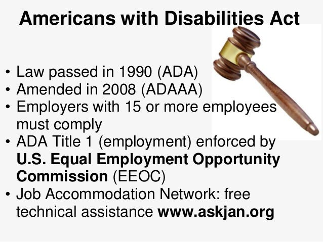 understanding americans with disabilities act The americans with disabilities act has been protecting disabled people's civil rights for more than 25 years, making sure they have the same opportunities as everyone else to be part of everyday american life.