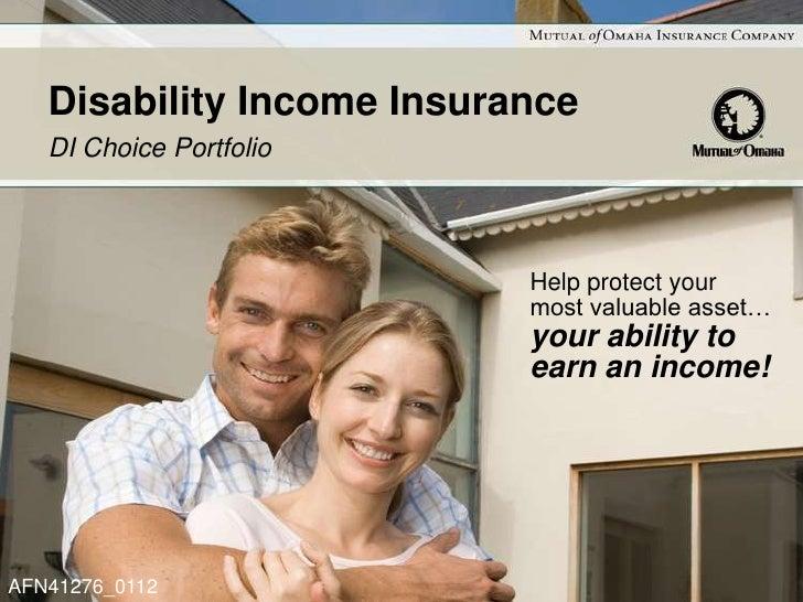 Disability Income Insurance   DI Choice Portfolio                           Help protect your                           mo...