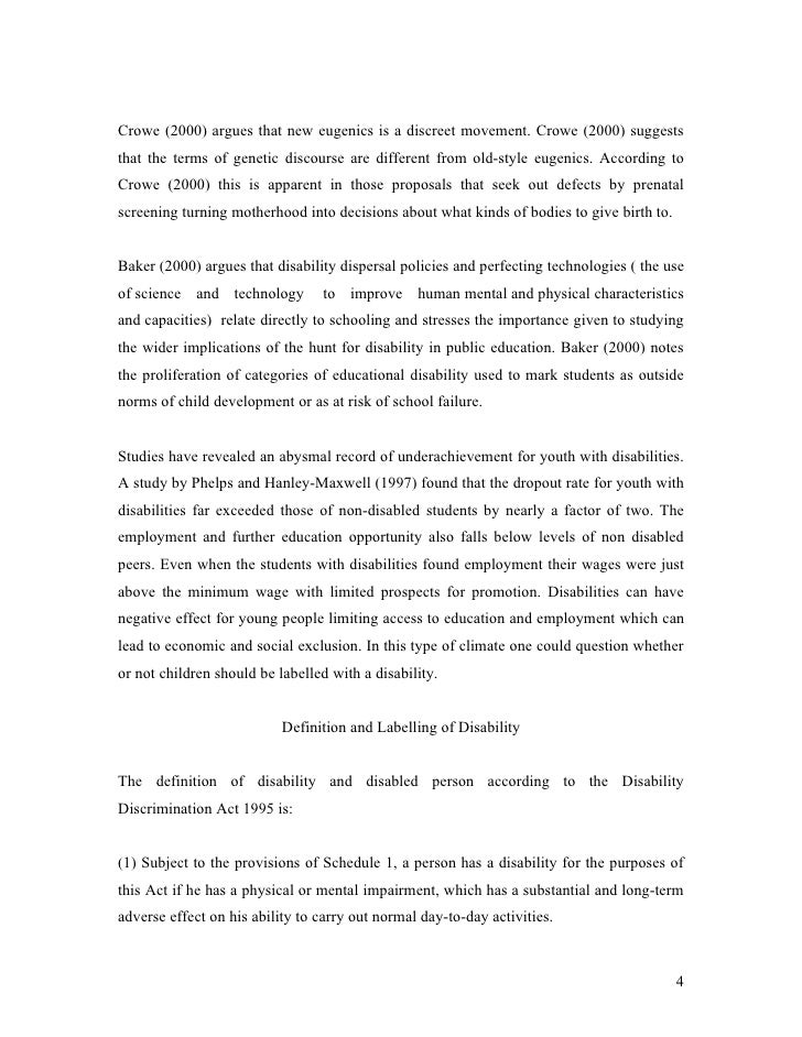 essay on disability discrimination