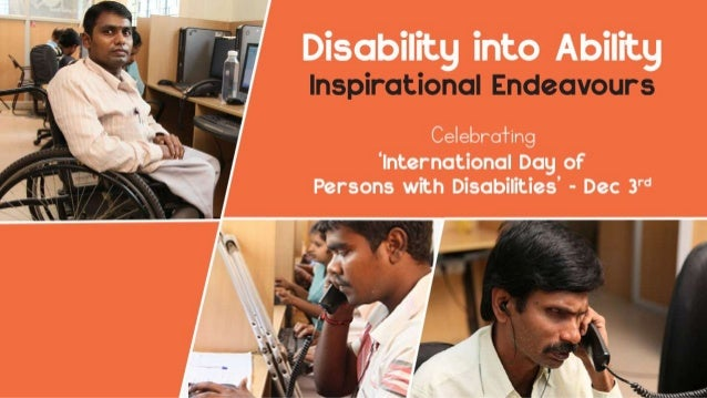 Disability into ability : Inspirational Endeavours