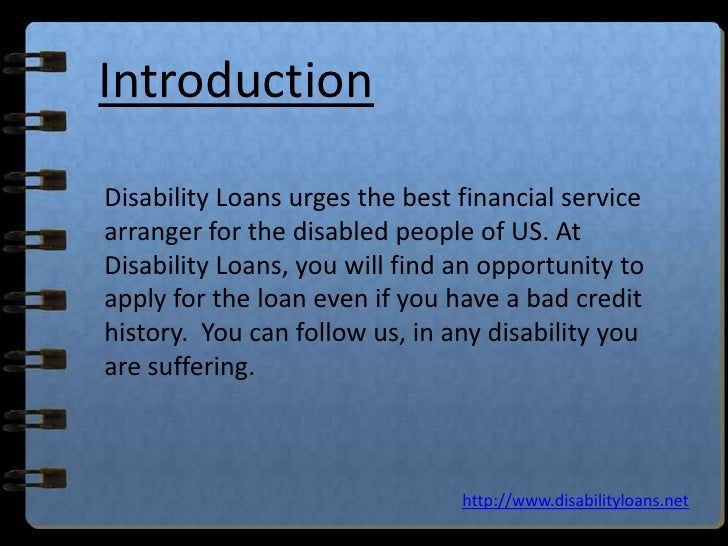 Loans For Disabled People With Bad Credit
