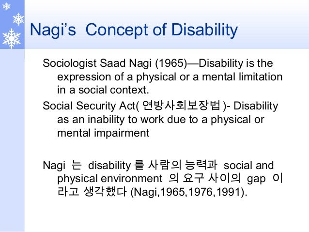 Disability Model