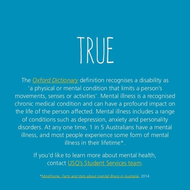 Disability myth buster - True or false