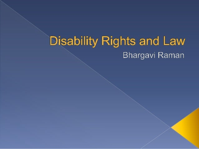 law for disability