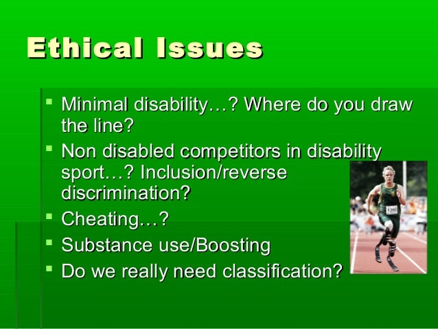 Line Drawing Technique Ethics : Disability sport
