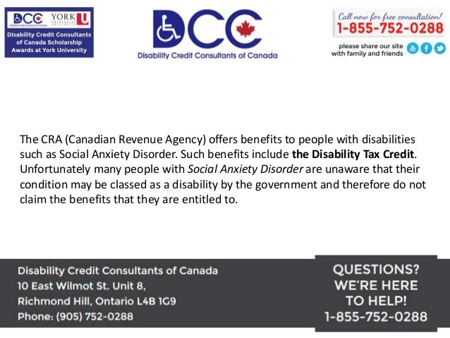 Disability Tax Benefit for Social Anxiety Disorder