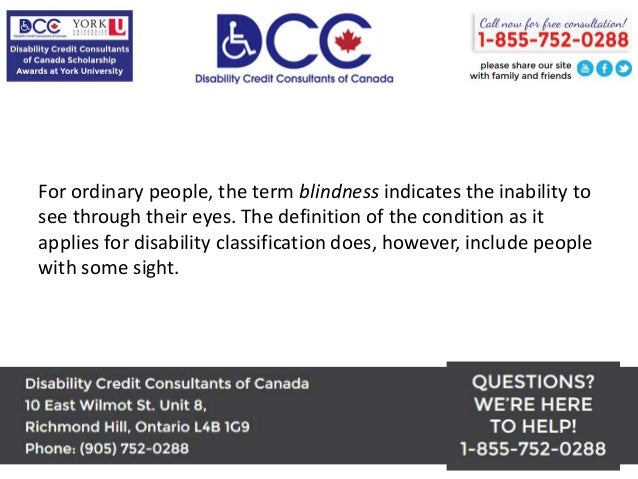 Disability Tax Credit Consultants Help Blind People Get