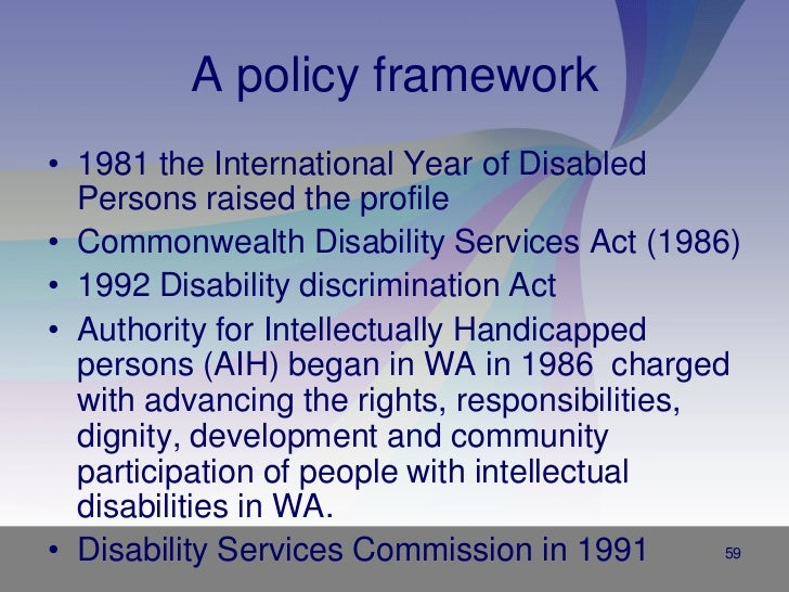 disability discrimination Disability discrimination (pdf) disability discrimination (word) disability discrimination occurs when a person is treated less favourably, or not given the same opportunities, as others in a similar situation because of their disability.