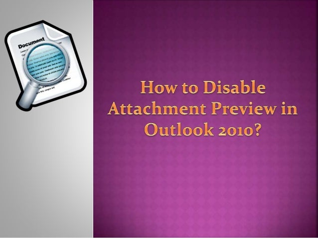 Outlook has a feature that allows users to  preview attachments and documents if the  handler is available for that file t...
