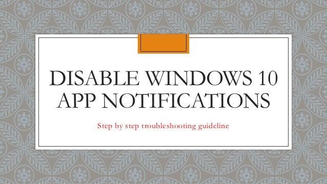 Disable Windows 10 App Notifications
