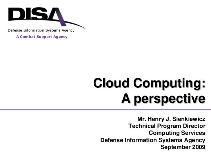 Disa CSD Cloud Brief Sept 2009 Hjs