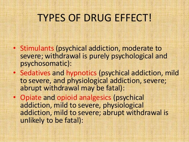 the disadvantage of drugs