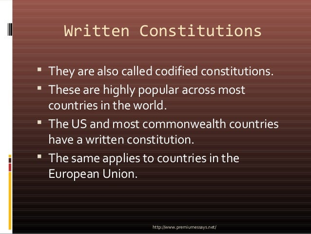 does the uk have a constitution essay Should britain have a codified constitution advantages  conservatives argue that it is simply not necessary - the uk has enjoyed a stable political system without a constitution for.