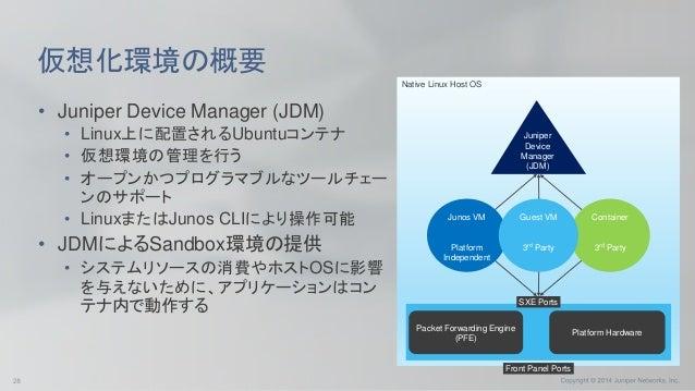 Disaggregated Junos Software Infrastructure