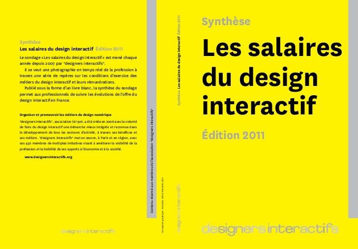 Les salaires du design interactif, édition 2011