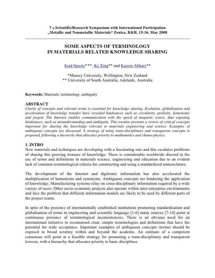 "7 th Scientific/Research Symposium with International Participation            ""Metallic and Nonmetallic Materials"" Zenica..."