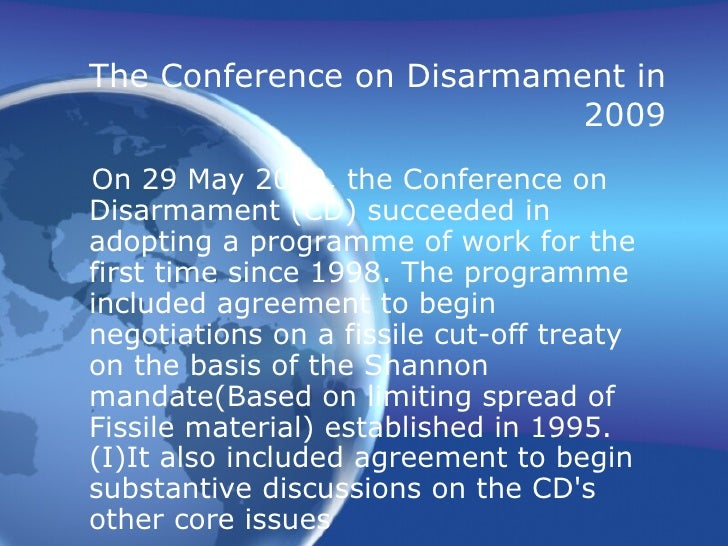 disarmament and arms control Arms control and disarmament – many still associate these concepts with a  bygone age, with summit meet- ings of the superpowers in vienna.