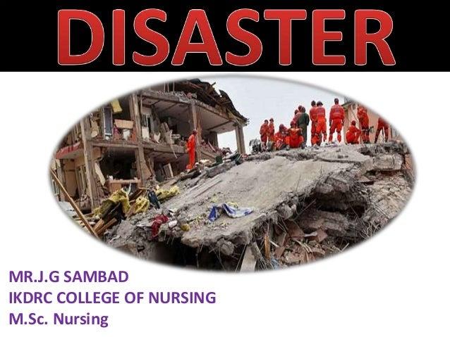 MR.J.G SAMBAD IKDRC COLLEGE OF NURSING M.Sc. Nursing