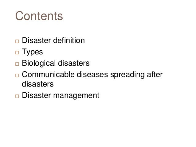 Disaster and-communicable-diseases Slide 2